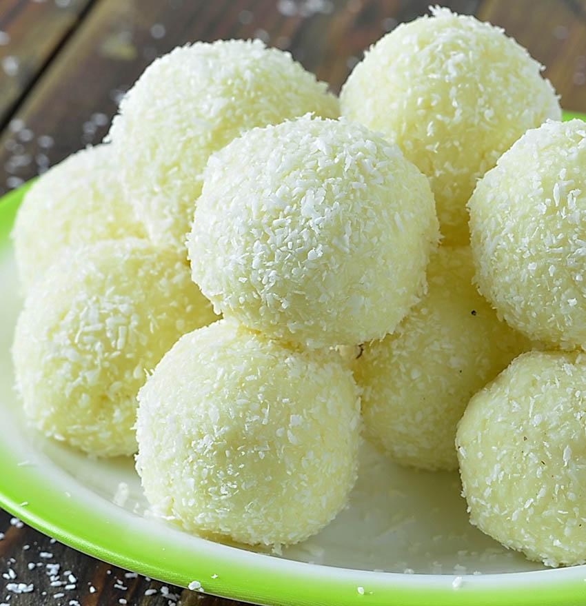No Bake Raffaello Coconut Balls
